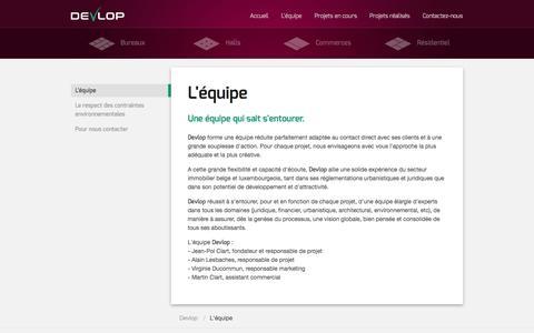 Screenshot of About Page devlop.eu - Développement immobilier: Bureaux, Halls, Commerces et Maisons - Devlop - captured Sept. 30, 2014
