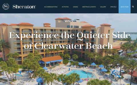 Screenshot of Home Page sheratonsandkey.com - Clearwater Florida Beach Hotel and Resort | Sheraton Sand Key - captured Nov. 19, 2018