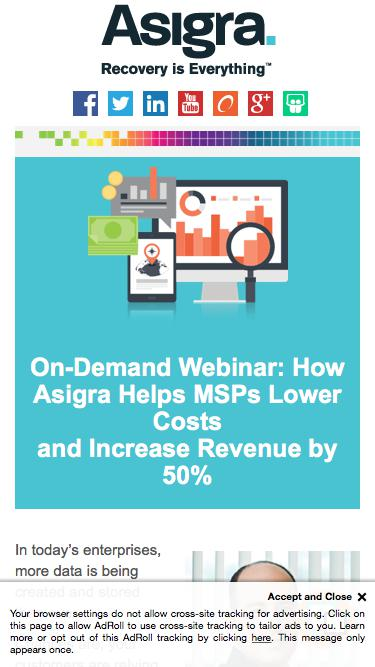 Webinar: How Asigra Helps MSPs Lower Costs and Increase Revenue by 50%
