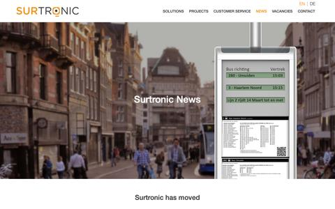 Screenshot of Press Page surtronic.nl - News | Surtronic - captured Oct. 18, 2018