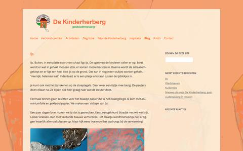 Screenshot of Blog dekinderherberg.nl - Blog | De Kinderherberg | Gastouder Houten - captured Aug. 1, 2016