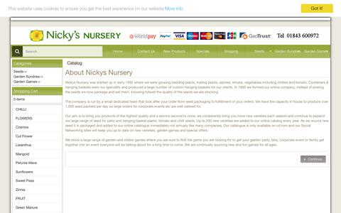 Screenshot of About Page nickys-nursery.co.uk - Nickys Nursery seed company view our extensive range online - captured Oct. 9, 2017