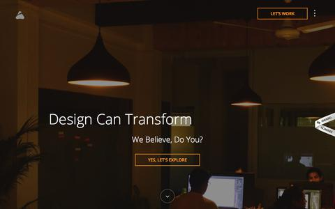 Screenshot of Home Page prismicreflections.com - Prismic Reflections: Brand Identity and UX/UI Design Studio - captured Oct. 11, 2017