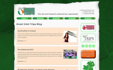 Screenshot of Blog greatirishtrips.com - Blog Great Irish Trips - captured July 18, 2016