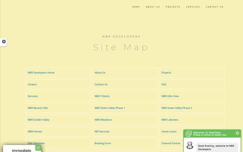 Screenshot of Site Map Page nbrdevelopers.com - NBR DEVELOPERS - captured Sept. 24, 2018