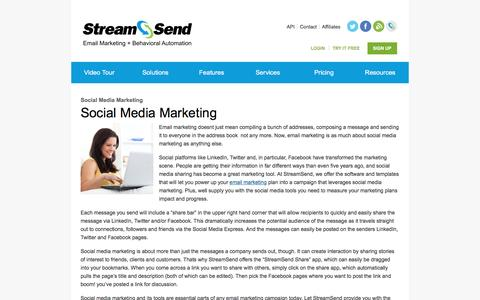 Social Media Marketing | Social Media Tools | Sharing | StreamSend