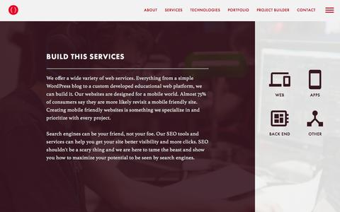 Screenshot of Services Page buildthis.com - Build This Services - captured Feb. 9, 2016