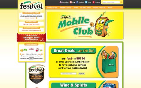Screenshot of Signup Page festfoods.com - Festival Foods - captured Nov. 3, 2014