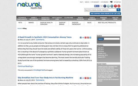 Screenshot of Blog naturalhealthmall.com - Blog - captured Oct. 9, 2014
