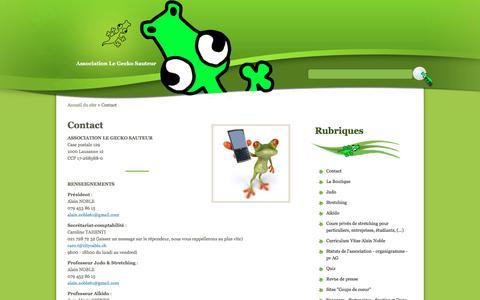 Screenshot of Contact Page Maps & Directions Page geckosauteur.ch - Contact - Association Le Gecko Sauteur - captured April 13, 2016