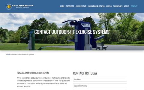 Screenshot of Contact Page outdoor-fit.com - Contact Outdoor-Fit Exercise Systems | Outdoor Fitness Equipment - captured Dec. 6, 2016