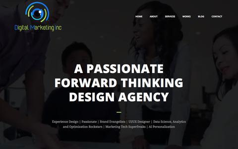Screenshot of Home Page digitalmarketing-inc.com - Home - DIGITAL MARKETING INC - captured July 16, 2019