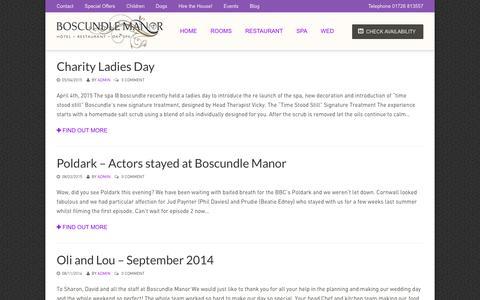 Screenshot of Blog boscundlemanor.co.uk - Blog - Boscundle ManorBoscundle Manor - captured Jan. 7, 2016