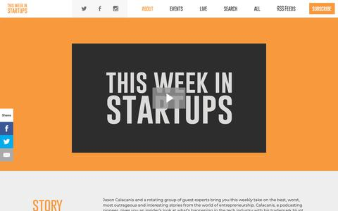 Screenshot of Contact Page thisweekinstartups.com - About  |  This Week In Startups - captured Sept. 27, 2018