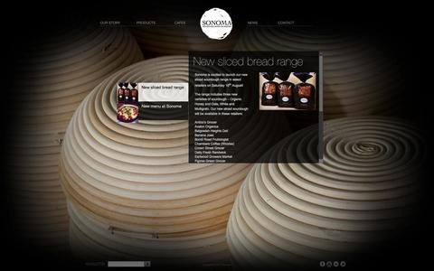Screenshot of Press Page sonoma.com.au - New sliced bread range - captured Oct. 7, 2014