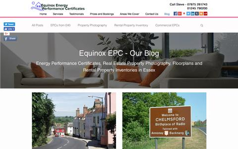 Screenshot of Blog energyperformancecertificates.biz - Epc from £40 | Basildon | Equinox Energy Performance Certificates - captured Aug. 15, 2017