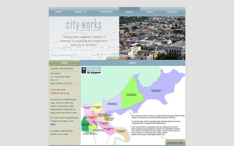 Screenshot of Maps & Directions Page city-works.org - City-Works - captured Dec. 9, 2015