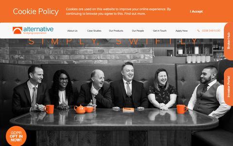 Screenshot of Home Page alternativebridging.co.uk - Alternative Bridging Corporation: Bridging Finance - captured Oct. 3, 2018