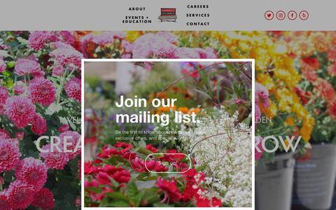 Screenshot of Home Page cwfng.com - Christy Webber Farm & Garden - captured Nov. 2, 2018