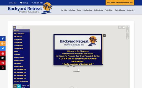 Screenshot of Maps & Directions Page backyardretreat.ca - map - Backyard Retreat - Hot Tubs, Swim Spas, Pools, Patio Furniture & BBQ in Oakville and Mississauga - captured Sept. 28, 2016