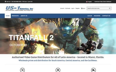 Screenshot of Home Page us1america.com - Home - captured Nov. 29, 2016