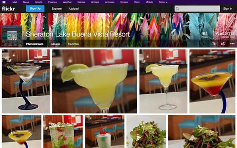 Screenshot of Flickr Page flickr.com - Flickr: Sheraton Lake Buena Vista Resort's Photostream - captured Oct. 26, 2014