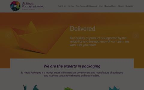 Screenshot of Home Page stneotspackaging.co.uk - St Neots Packaging Ltd - captured Oct. 7, 2014