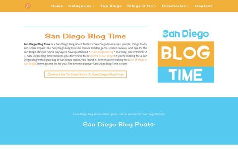 Screenshot of Home Page san-diego-culture.com - San Diego Blog Time | A San Diego blog for locals - captured Nov. 25, 2016