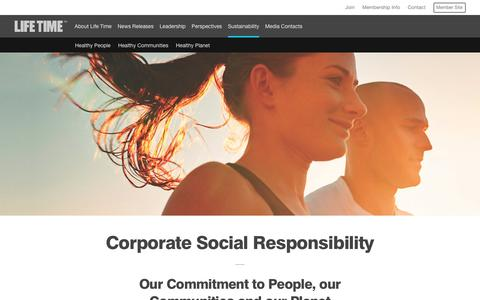 Sustainability | Life Time Fitness