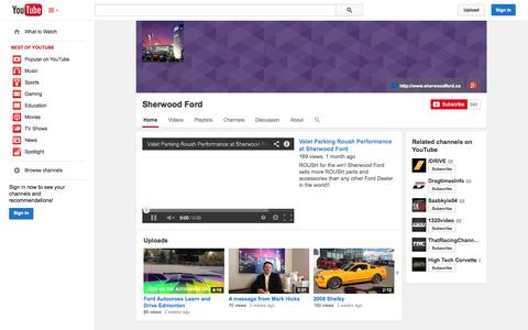 Screenshot of YouTube Page youtube.com - Sherwood Ford  - YouTube - captured Oct. 26, 2014