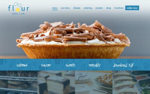 Screenshot of Menu Page flourbakery.com - menu | Flour Bakery - captured Oct. 14, 2017