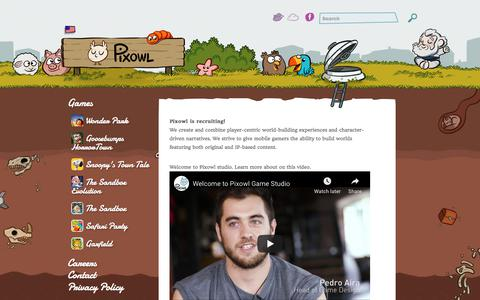 Screenshot of Jobs Page pixowl.com - Careers | Pixowl – Mobile Games Studio - captured Aug. 21, 2019