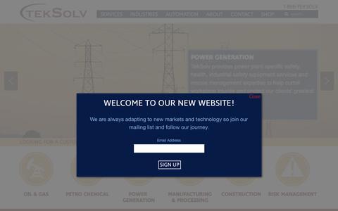 Screenshot of Hours Page teksolv.com - One Company, Many Solutions - TekSolv - captured Sept. 15, 2017