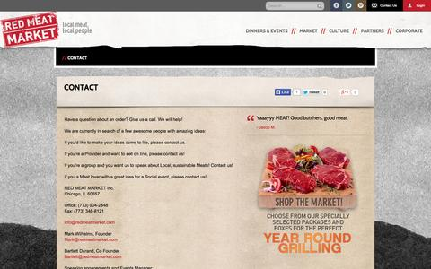 Screenshot of Contact Page redmeatmarket.com - Red Meat Market - captured Sept. 19, 2014