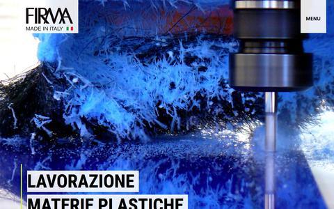 Screenshot of Home Page firmasnc.it - Lavorazione Plexiglas, PMMA, Policarbonato su misura | Firma Snc - captured Jan. 8, 2018