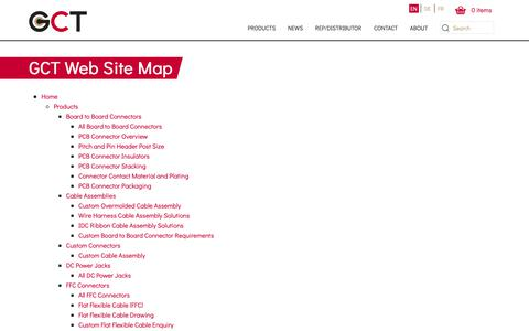 Screenshot of Site Map Page gct.co - Web Site Map | GCT - captured Nov. 10, 2018