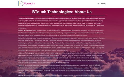 Screenshot of About Page btouch.in - BTouch Technologies/About Us - captured Feb. 8, 2016