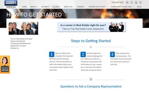 Screenshot of Jobs Page cbgosslee.com - How To Get Started - captured Aug. 11, 2017