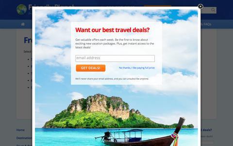 Screenshot of FAQ Page friendlyplanet.com - Travel FAQ - Friendly Planet Travel - captured Oct. 14, 2017