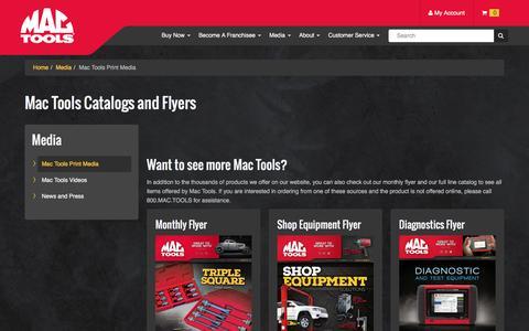 Screenshot of Press Page mactools.com - Mac Tools Print Media - captured July 21, 2016