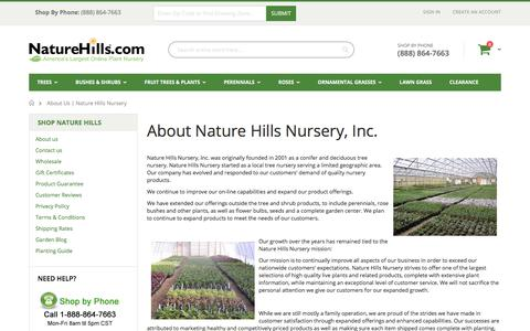 Screenshot of About Page naturehills.com - About Us | Nature Hills Nursery - captured July 19, 2017