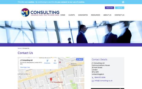 Screenshot of Contact Page j1consulting.co.uk - Contact Us - J1 Consulting - captured Nov. 18, 2016