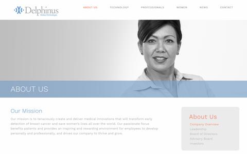 Screenshot of About Page delphinusmt.com - About Us - Delphinus Medical Technologies - captured Oct. 12, 2017