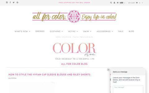 Screenshot of Blog allforcolor.com - Color Ave. - The All For Color Blog - captured July 25, 2016