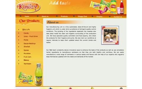 Screenshot of About Page kingzy.com - Kingzy (Add Taste to Your Life) - captured Oct. 2, 2014