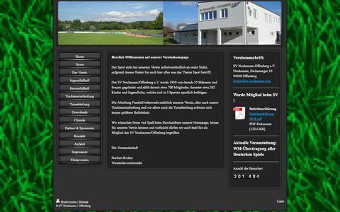 Screenshot of Home Page sv-neuhausen.com - Neuhausen - SV Neuhausen / Offenberg - captured May 21, 2018