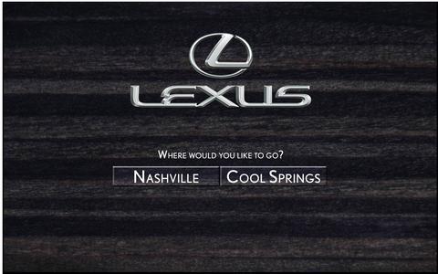 Screenshot of Home Page nashvillelexus.com - Lexus of Nashville is a Brentwood Lexus dealer and a new car and used car Brentwood TN Lexus dealership. - captured Oct. 2, 2014