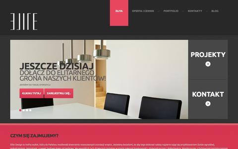 Screenshot of Home Page elite-design.pl - Projektowanie i aranżacja wnętrz Warszawa, Wrocław - architekt, projektant, dekorator - Studio projektowe Elite-Design - captured Sept. 23, 2014