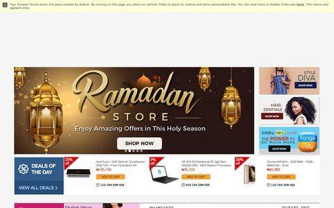 Screenshot of Home Page konga.com - Online Shopping | Phones, Fashion, Electronics - captured May 19, 2017