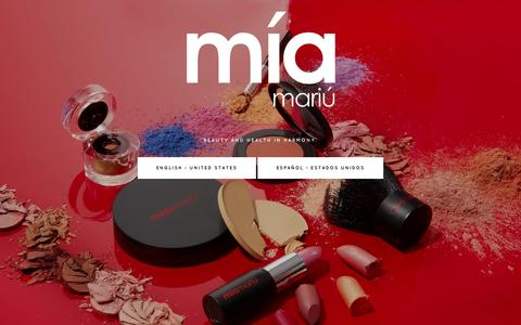 Screenshot of Home Page miamariu.com - M�a Mari� | Beauty and Health in Harmony - captured Nov. 10, 2015